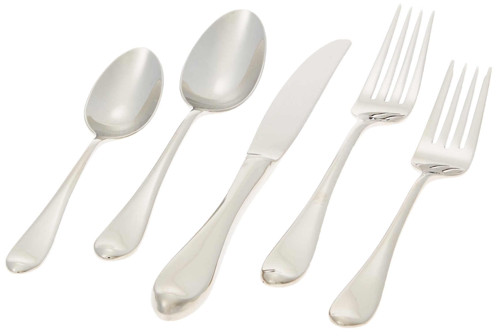Gorham Studio 5-Piece Stainless Flatware Set - Cleanly designed place setting for everyday or special occasions Includes salad fork, dinner fork, dinner knife, dinner spoon, and teaspoon Made of high-quality 18/10 stainless steel - kitchen-tabletop, kitchen-dining-room, flatware - 61aglFJfIdL -
