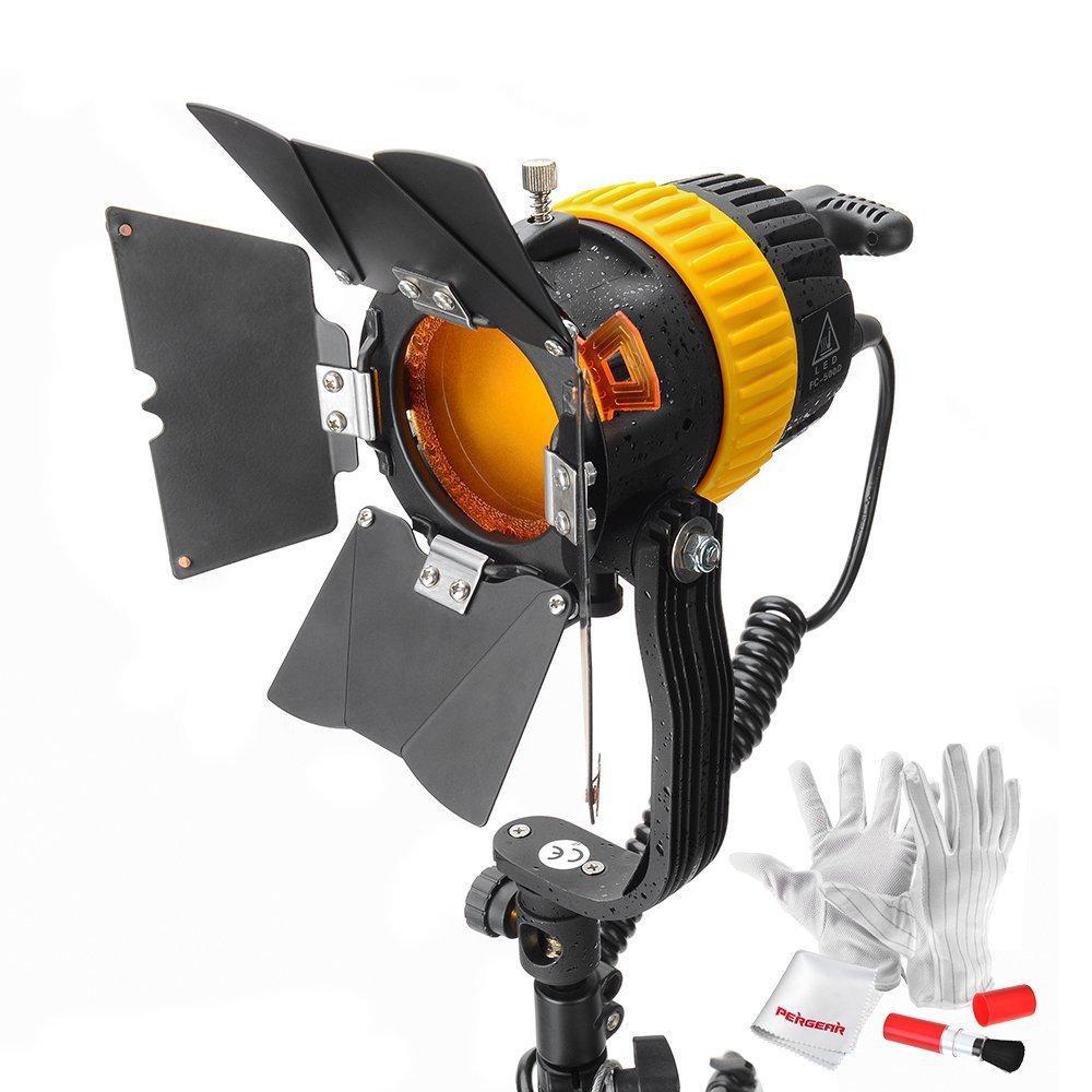 【正規品 1年保証】CRI FC-500D 50W LED スポットライト カメラのビデオで連続光を提供 輝度調節可能 ビーム角度と色温度も調整可能 Pergear クリーニングキットセット付属   B074NXRK9Q