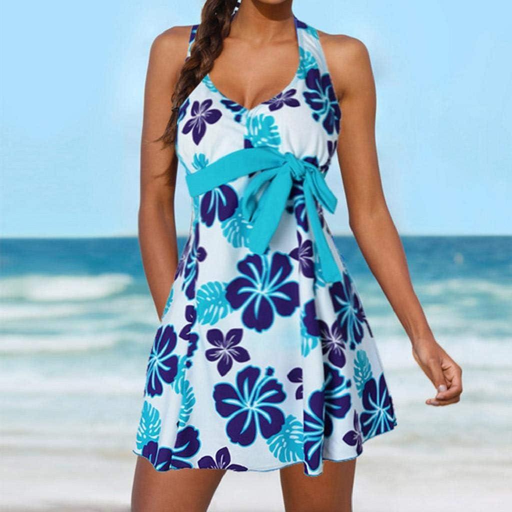 Tankini para Mujer SHOBDW Talla Grande Estampado Floral Ropa de Playa Damas Traje de Baño Vendaje Bata de Talle Alto Trajes de Baño de Dos Piezas Traje de Baño: Amazon.es: Ropa y