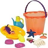 B.Toys 比乐 大桶沙滩玩具套装-木瓜红 儿童挖沙玩水套装  婴幼儿童益智玩具 礼物 18个月+ BX1445Z