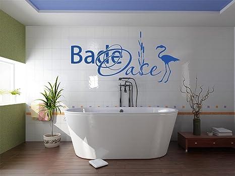 Tattoo adesivo da parete decorazione per bagno con scritta da