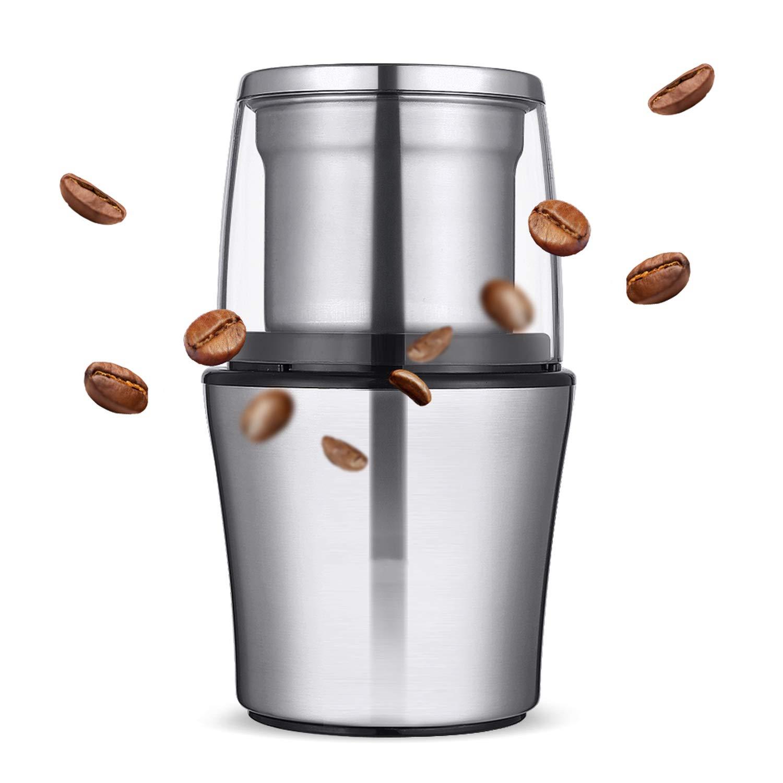 200W Electric Coffee Grinder Stainless Steel Body Big Capacity For Salt Pepper Grinder Powerful Bean Grinding Machine,Eu
