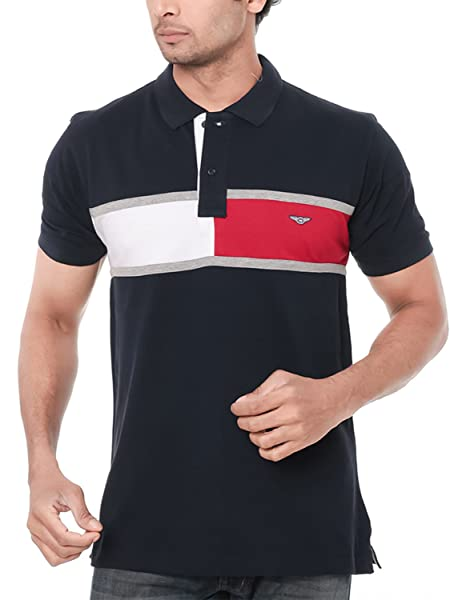 aa231f0b93c WEXFORD Men s Polo Neck Solid Casual T-Shirt Black  Amazon.in ...