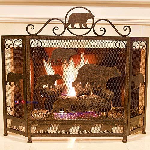 fireplace screen bear - 4