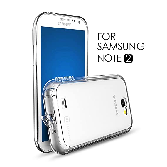 huge selection of 1c8c4 fb87c Case Army Galaxy Note 2 | Note II Clear Cover Case [CLOG] Scratch-Resistant  Clear Case for Samsung Galaxy Note 2 | Note II | N7100 hard back soft ...