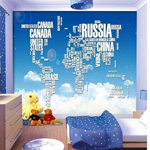 Amazhen Fondo de Pantalla 3D Cielo Azul Nubes Blancas Mapa Azul ...