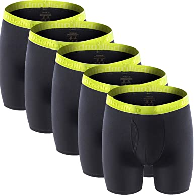 Mens Underwear Bamboo Big and Tall Long Leg Boxer Briefs Men Pack M L XL XXL 3XL
