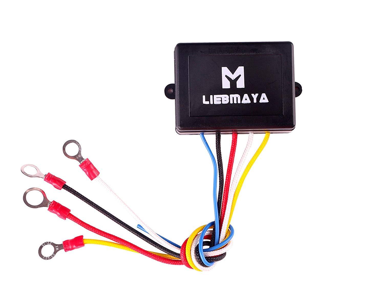 LIEBMAYA Kit de control remoto inal/ámbrico para cami/ón Jeep ATV Winch 12V con dos mandos a distancia de llavero