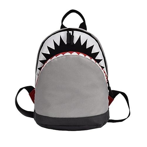 STRIR 3D Tiburón Mochila Infantil Niño Mochilas Escolares Juveniles Tiburón Patrón Animales Guardería Mochila viaje bolsos Primaria Bolsa de la escuela: ...