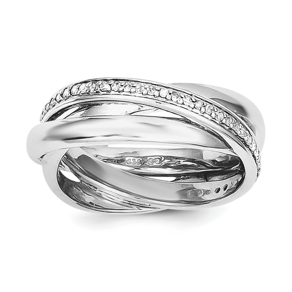 ICE CARATS 925 Sterling Silver Diamond Wedding Ring Band Size 8.00 Fine Jewelry Gift Set For Women Heart