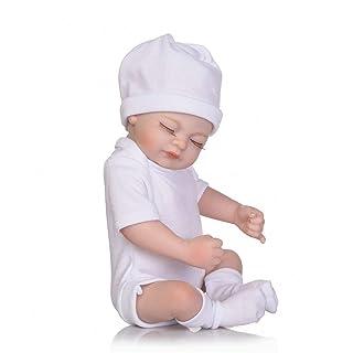 26CM Disegno Sveglio Bambini Reborn Baby Doll Morbido Vinile realistica Newborn Girl Doll Miglior Regalo di Compleanno per Bambini Girls (Bianco) Gugutogo