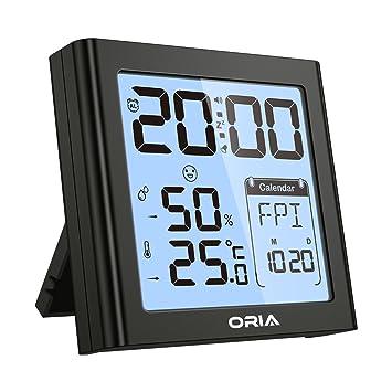 【 2019 the Latest Version 】ORIA Digital Alarma Despertador, Reloj Despertador con Tiempo,