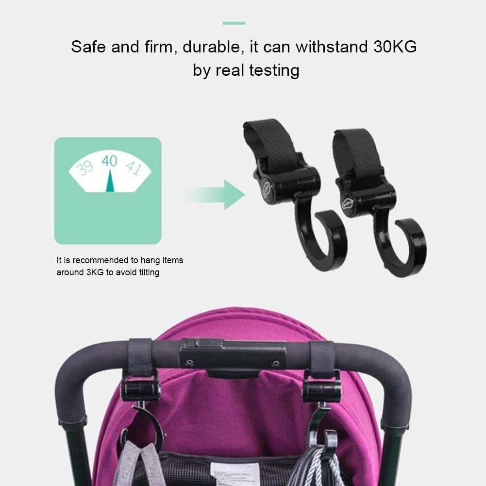 Kinderwagen-Haken 2 St/ück Windeltaschen Mehrzweck-Kinderwagen-Zubeh/ör sichere Geldb/örsen Einkaufstaschen Reisesysteme f/ür Baby-Kinderwagen