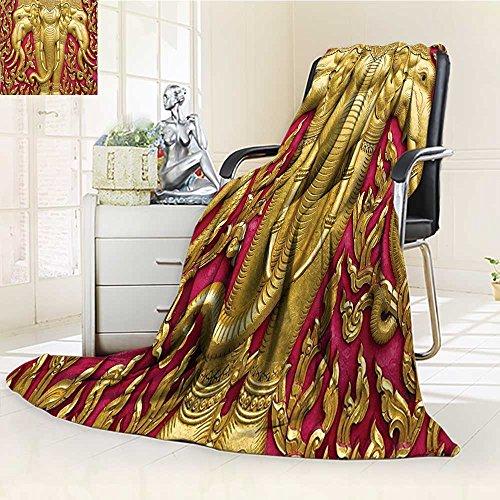AmaPark Digital Printing Blanket Carved G Paint on Door Thai Temple Spirituality Statue Classic Gen Summer Quilt Comforter by AmaPark