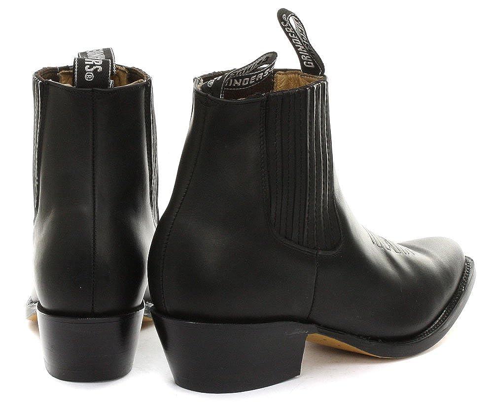 Cowboy Schwarz 46 Stiefel Größe Grinders Herren Maverick 34RjqcA5L