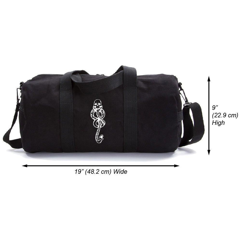 Harry Potter Death Eaters Dark Mark Canvas Duffel Bag in Black (Large)