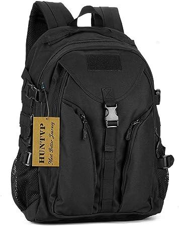Huntvp 40L Tactical Backpack Assault Pack Large Student School Rucksack  Molle Bag for Mens Womens Black: Amazon.co.uk: Sports & Outdoors