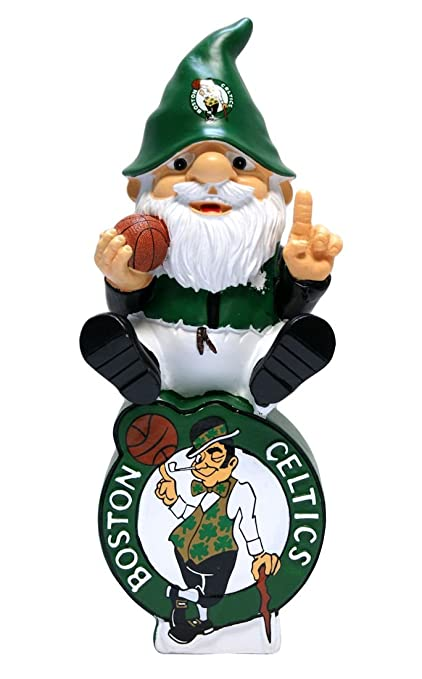 brand new fbc43 8257a Forever Collectibles Boston Celtics Garden Gnome - On Team Logo