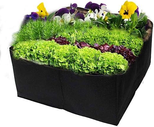 Cesta de jardín para vegetales, bolsa de cultivo dividida para plantar patatas, para plantar tomates, caja de jardinería de pies cuadrados, mini luz de crecimiento, bolsas de plástico para plantar: Amazon.es: Hogar
