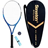 Senston 27 inch Tennis Racket Professional Tennis Racquet,Good Control Grip,Strung with Cover,Tennis Overgrip, Vibration Damper