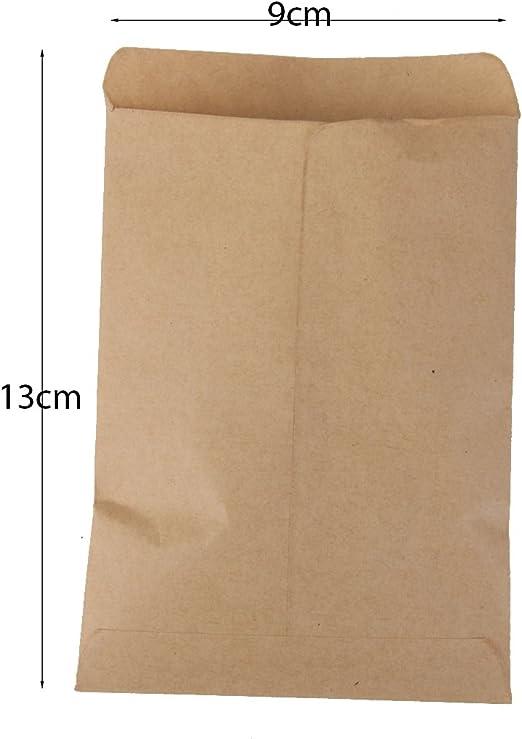 Lot Pochettes Sacs en Kraft Papier Vintage pour Semences 200pcs 9x13cm