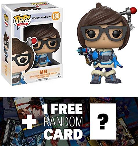 Mei: Funko POP! Games x Overwatch Vinyl Figure + 1 FREE Video Games Themed Trading Card Bundle (13085)