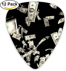 Sherly Yard 12 Pack Púas de guitarra personalizadas Money Falling Dollars Estándar financiero Bajo Guitarrista Música Regalos: Amazon.es: Instrumentos musicales
