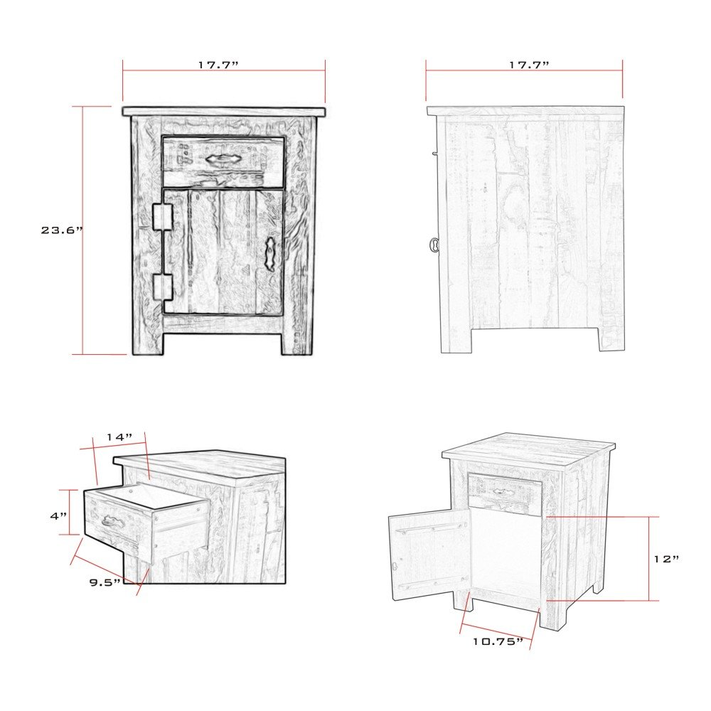 Reclaimed Accent Cabinet Solid Wood Distressed Color by The Beach House Design (Image #2)
