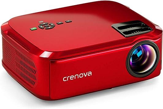 Crenova Proyector Nativo 1080p LED proyector de vídeo, 5500 Lux ...