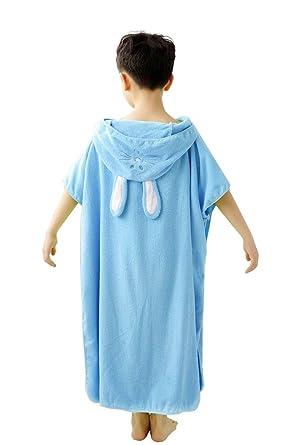 6e4ca1cb1f Comfysail Children s Unisex 100% Cotton Hooded Bath Towel Poncho Bathrobe  Shower Towelling Swimming Girls Boys