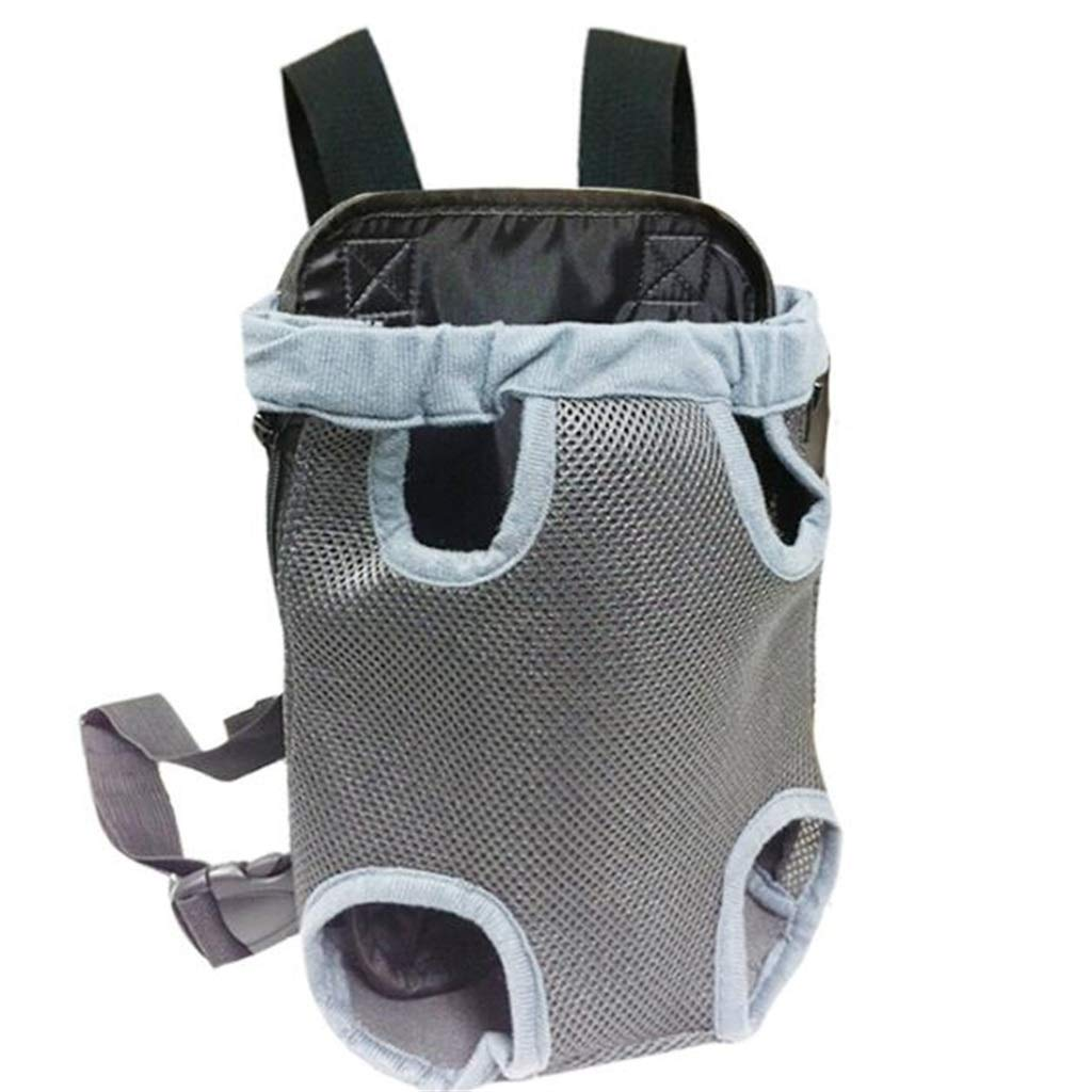 5838 Pet Bag Comfortable and Convenient Outgoing Chest Backpack, Cat Bag, Dog Bag, Teddy Pet Backpack Canvas Grey