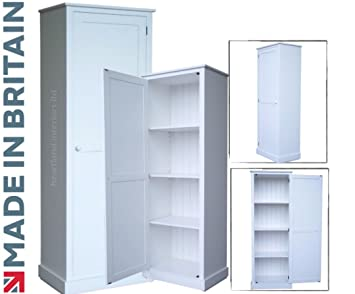 100 bois massif meuble de rangement 180 cm de haut blanc painted armoire