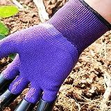 Garden Genie Gloves with Claws, Purple Waterproof