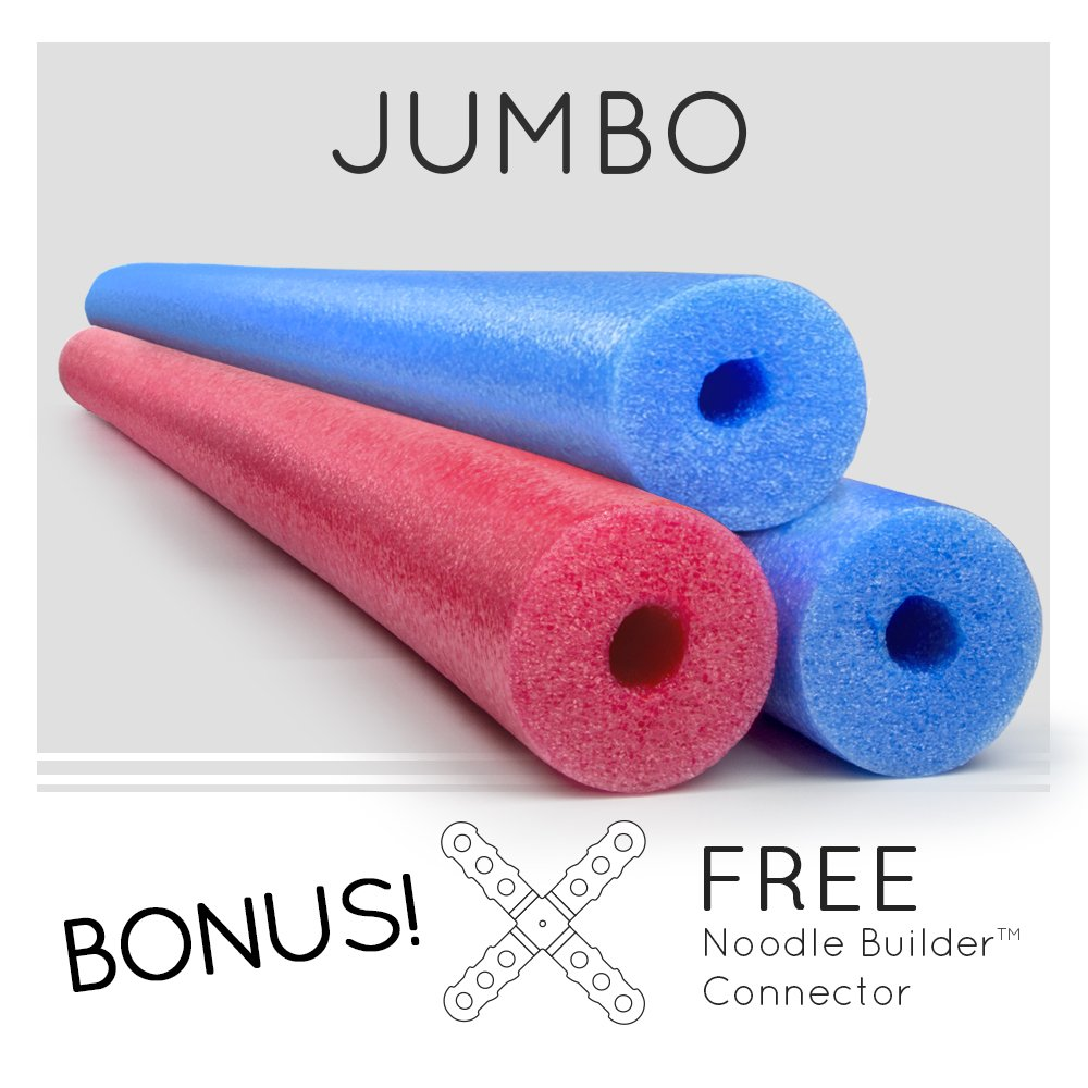 3 Pack Oodles Monster 55 Inch x 3.5 Inch Jumbo Swimming Pool Noodle Foam Multi-Purpose Assorted by Oodles of Noodles
