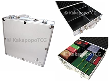 Delicieux Kaiba Briefcase Silver Metal Storage Carry Case For Trading Cards TCG  Yugioh YGO Ultra Pro Deck
