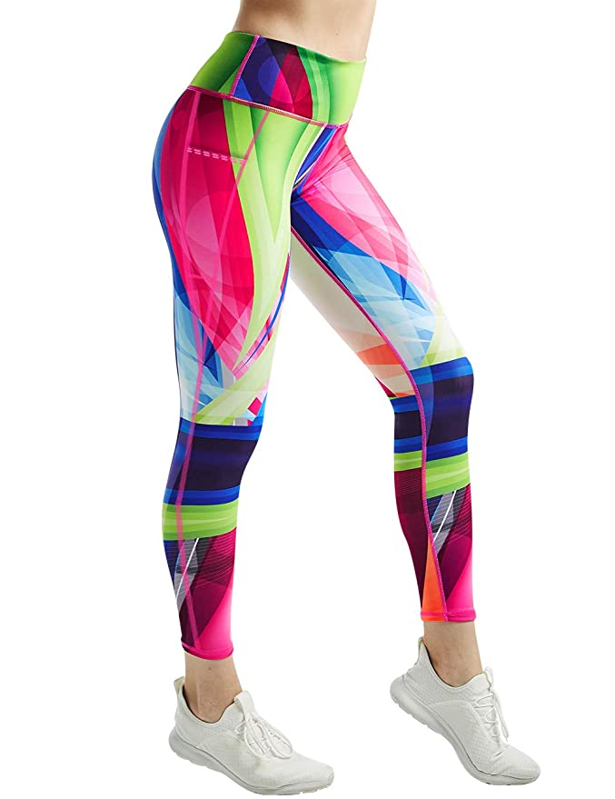 Amazon.com: COOLOMG - Mallas de yoga para mujer con ...