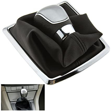 Amazon.com: Black 5 Speed Gear Shift Knob Stick Lever Gaiter Boot Cover For Ford Focus MK2: Automotive