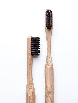 Cepillo de dientes de bambú - carbón de bambú Natural con cepillos de dientes - sin BPA: Amazon.es: Salud y cuidado personal