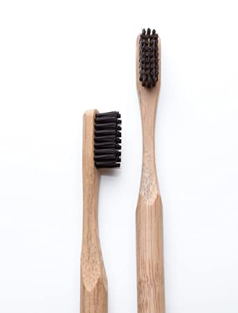Amazon.com : Bamboo Toothbrush - Natural Bamboo Charcoal Infused Toothbrushes - BPA Free : Beauty