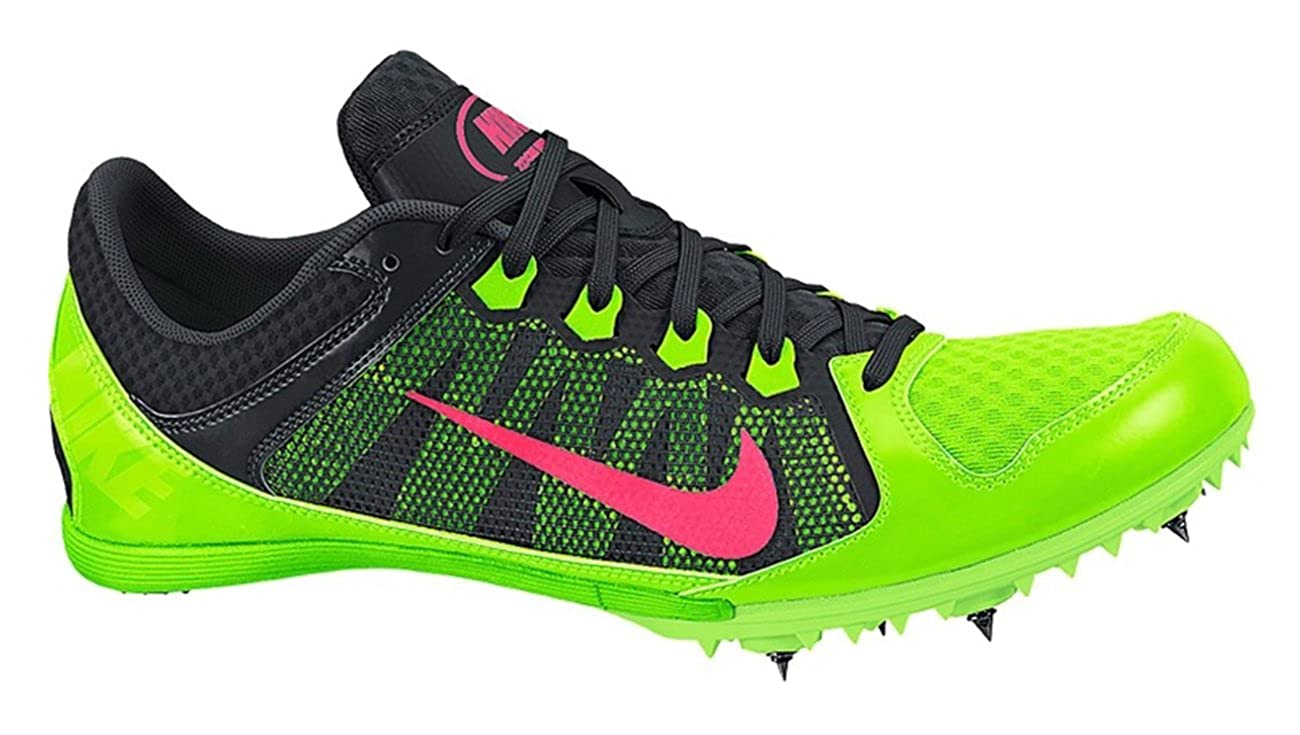 online store 5c704 239b1 Amazon.com   Nike Rival MD 7 Mens Track Spikes Running Shoes (Men 12,  Electric Green Hyper Punch Black)   Running