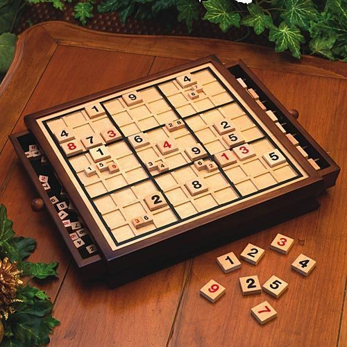 Bits and Pieces Deluxe Wooden Sudoku Board Game ()