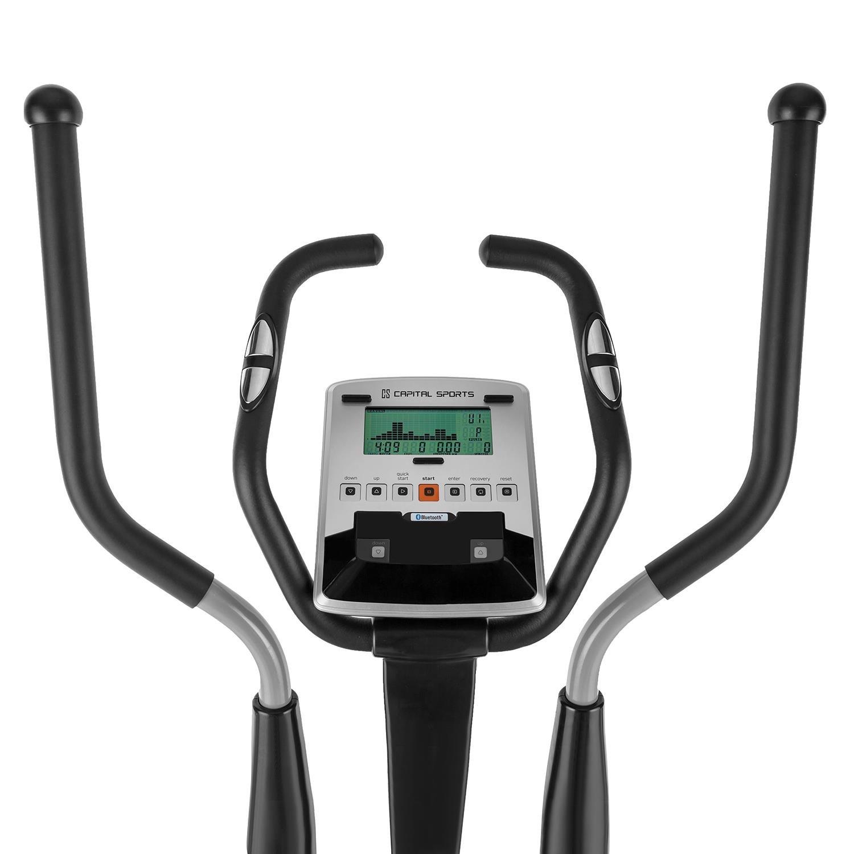 Capital Sports CROSS-1 Bicicleta elíptica Ergómetro Bluetooth (Pulsómetro, consumo calorías, volante de inercia 9kg, ordenador digital, ...