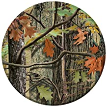 Creative Converting 8 Count Paper Dinner Plates, Hunting Camo