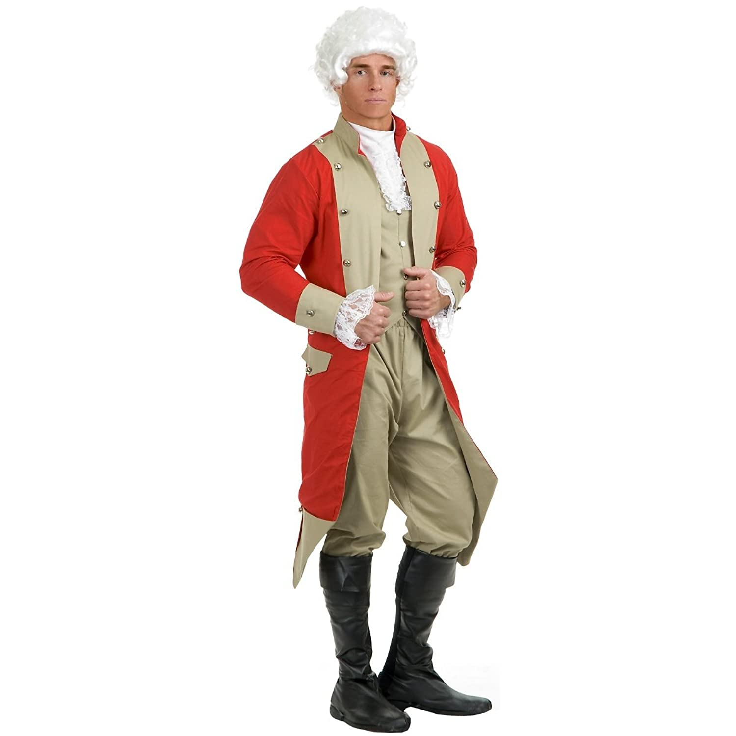 Amazon.com: Charades Men's British Red Coat Costume Set: Clothing