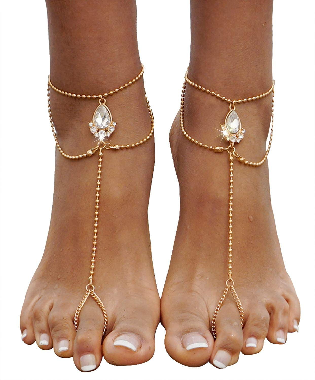 Jewelry & Watches Women Vintage Boho Tassel Anklet Bracelet Barefoot Sandal Beach Anklet Jewelry Complete Range Of Articles Anklets