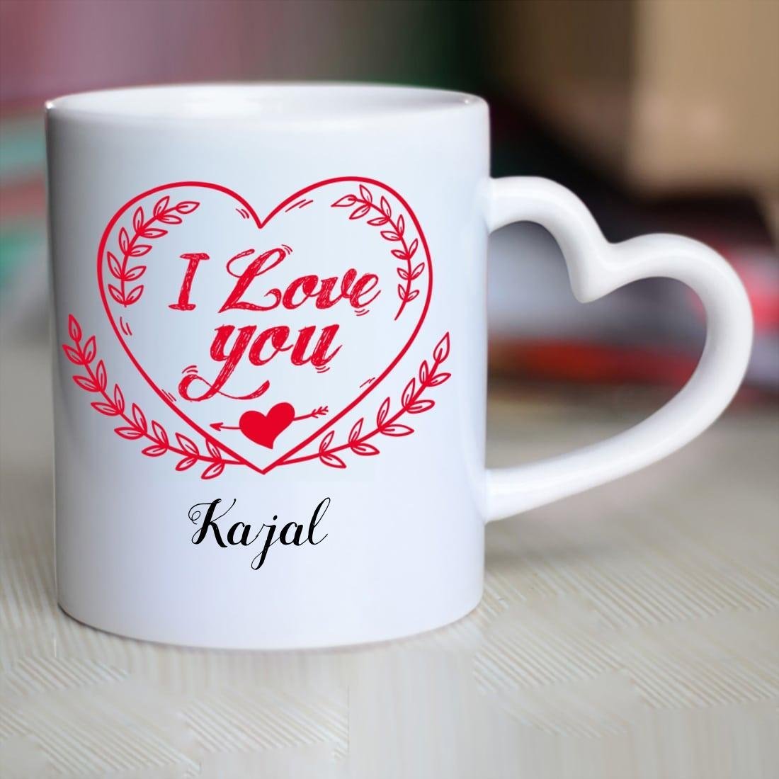 Buy Huppme I Love You Kajal Heart Handle Mug 350 Ml White Online At Low Prices In India Amazon In Kajal i love u, mumbai, india. buy huppme i love you kajal heart