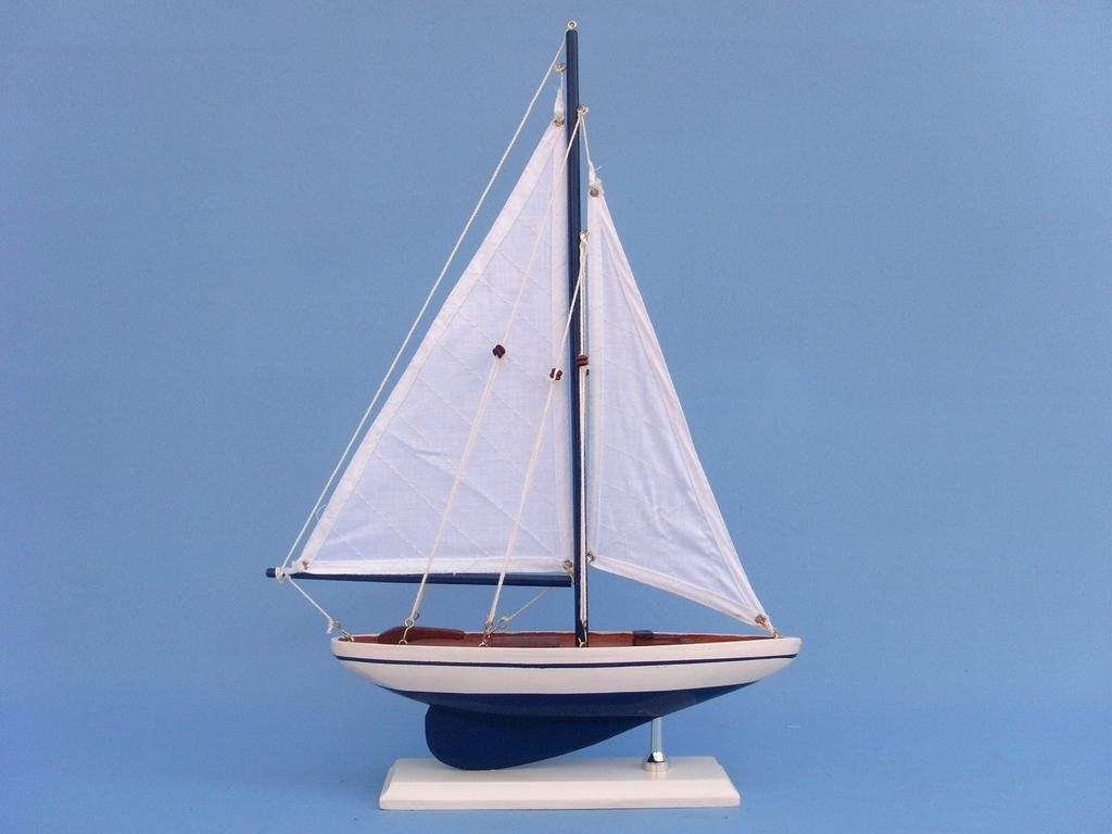 Amazon.com: Hampton Nautical Pacific Sailer Sails Boat, 17
