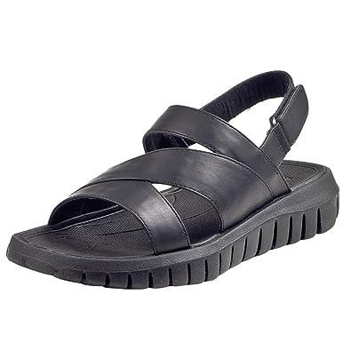 SERO FLEXOLOGY Damen Sandalen, schwarz, 910516-1, Gr 41 Manitu