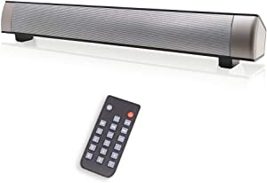 Computer Speakers for Desktop, Wired & Wireless Sound Bar for PC, Mini Sound/Audio System for Home Theater Gaming, Computer, Cellphone, Projectors, Outdoor/Indoor Stereo Soundbar with Remote