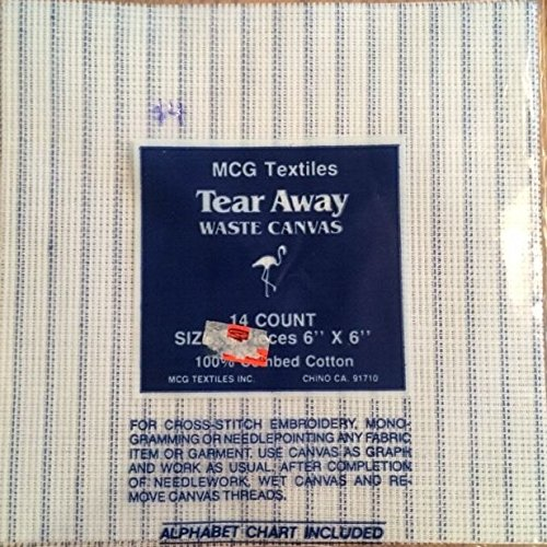M C G Textiles Tear Away Canvas Mesh 14 Count 3 Pieces 6 x 6